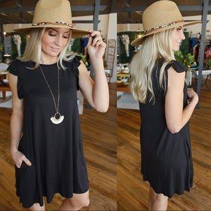 Somebody's Problem Loose Fit Dress-Black